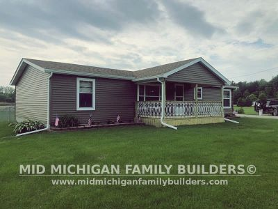 Mid Michigan Family Builders Siding Front Porch Roof Garage Project 06 2019 01 09