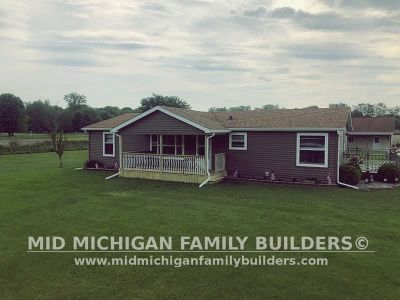 Mid Michigan Family Builders Siding Front Porch Roof Garage Project 06 2019 01 12