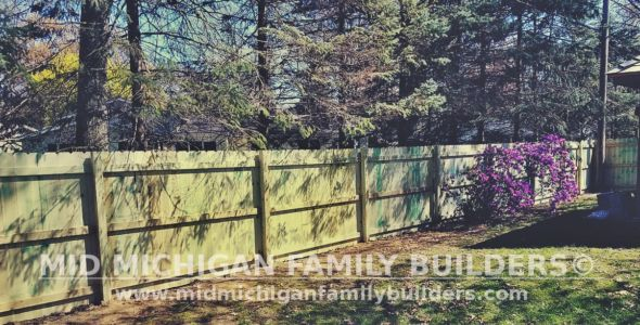 Mid Michigan Family Builders Wooden Fence Project 05 2019 02 03
