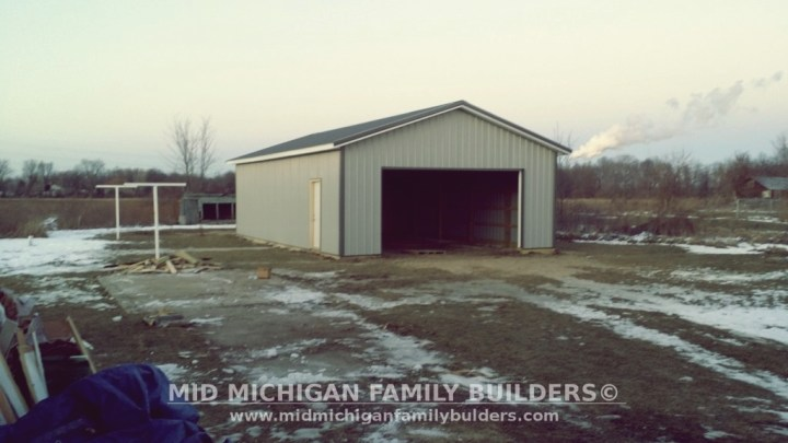 Mid Michigan Family Builders Custom New Construction Project Pole Barn Structures
