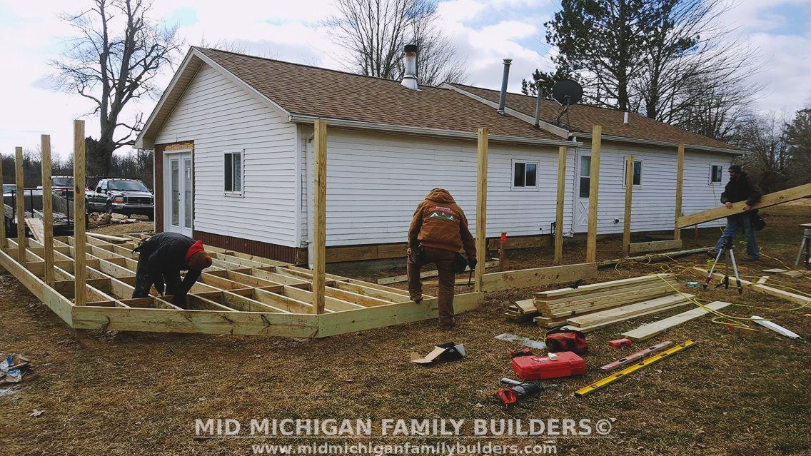 Mid Michigan Family Builders Custom Construction Project Deck Deck Decking