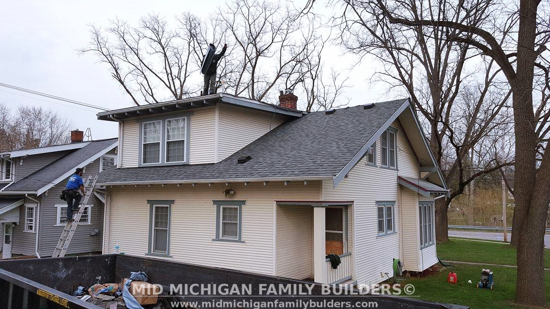 Mid Michigan Family Builders Custom Construction Project Roof Roofing