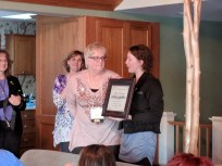 A year late but Margo finally gets her plaque.