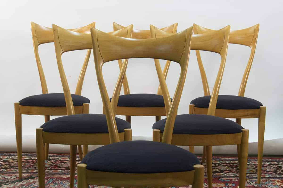 Italian Dining Chairs 6 Italian Dining Chairs In The Style Of Ico Parisi