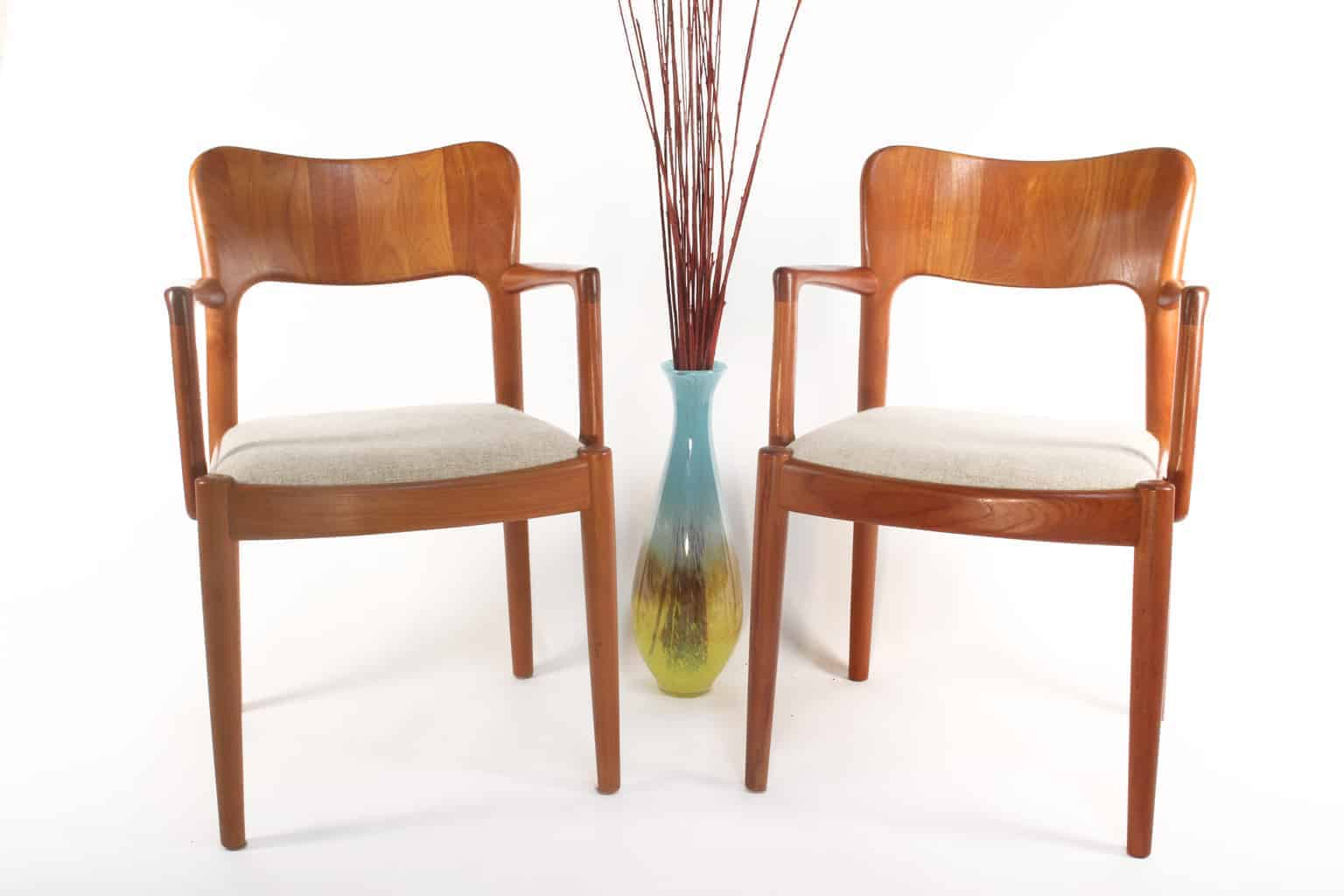 Beautiful Chairs Pair Of Teak Arm Chairs