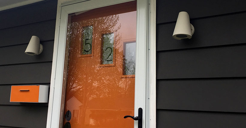 Micro Update: DIY Frosted Glass House Numbers