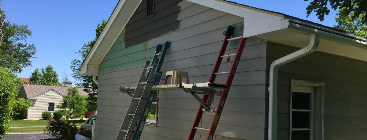 Sensational Progress Painting Up The North Side Gable Midmod Midwest Download Free Architecture Designs Ferenbritishbridgeorg