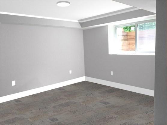 bedroom paint test_grey soffit