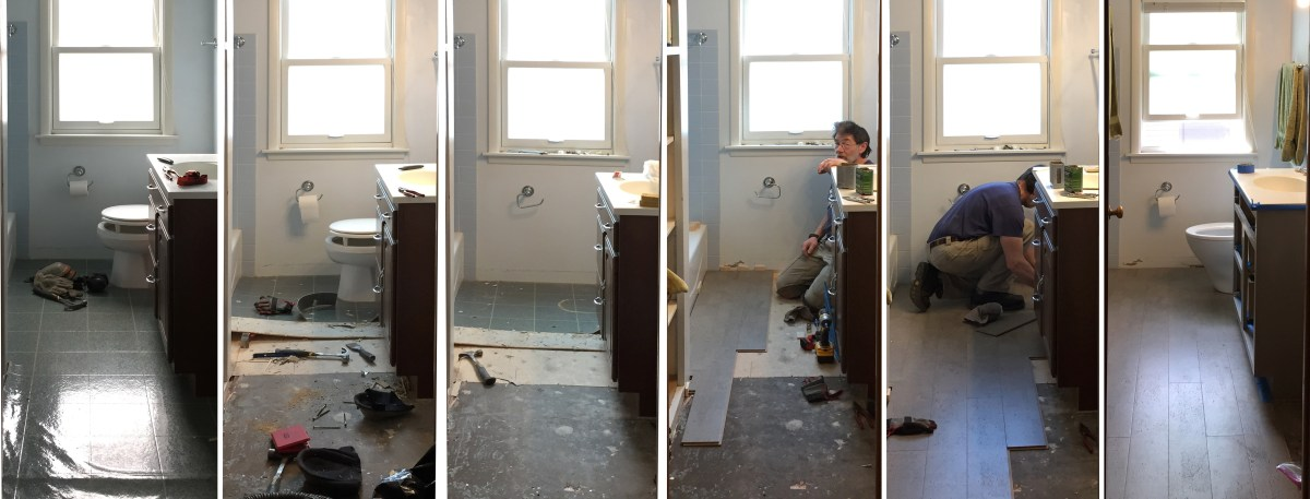 Quick Change: Replacing the bathroom toilet and flooring at the same time