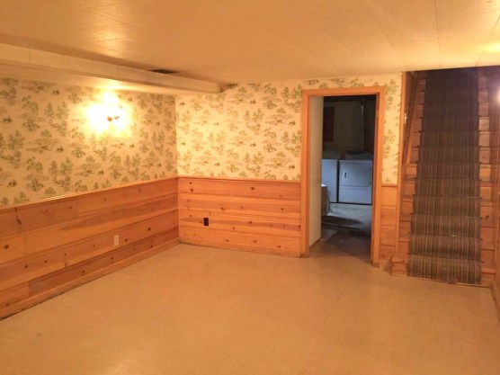 basement rec room to stair