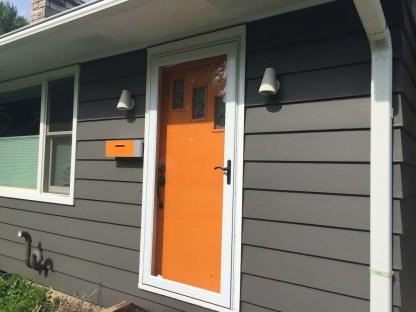 exterior front door close