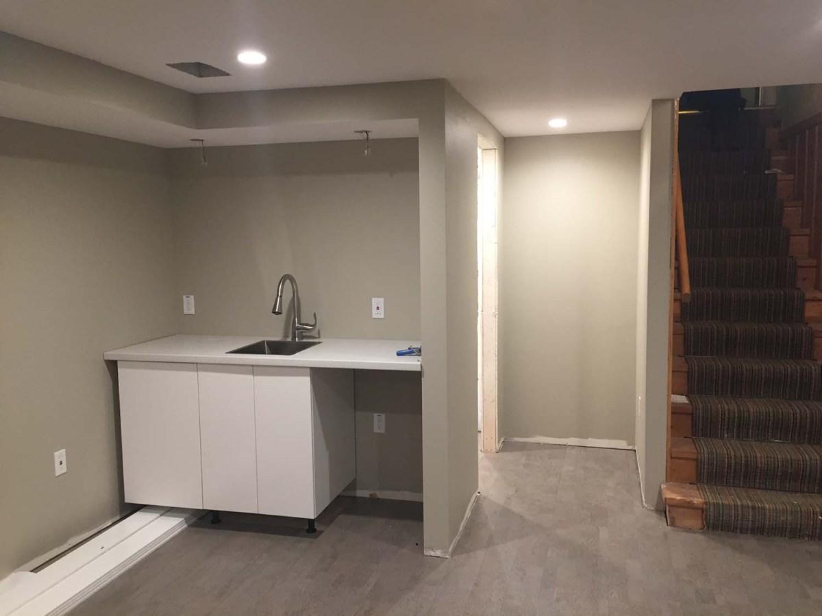 Progress: Basement Bath and Bar Sink