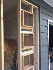 window frames in place