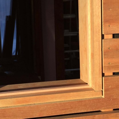 detail view of window stops