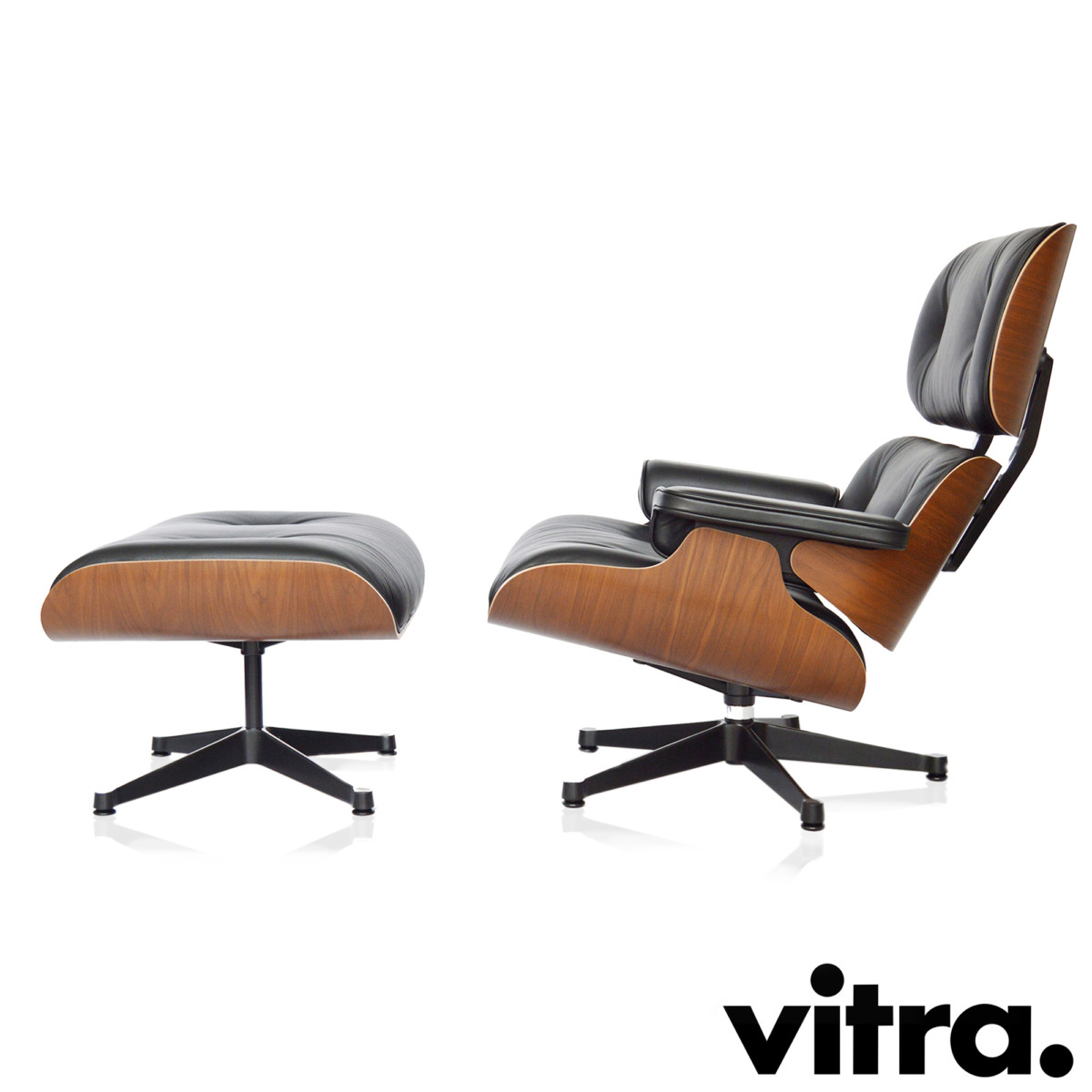 vitra lounge chair rocking chairs at walmart eames in the design assortment of midmodern de buy xl ottoman walnut