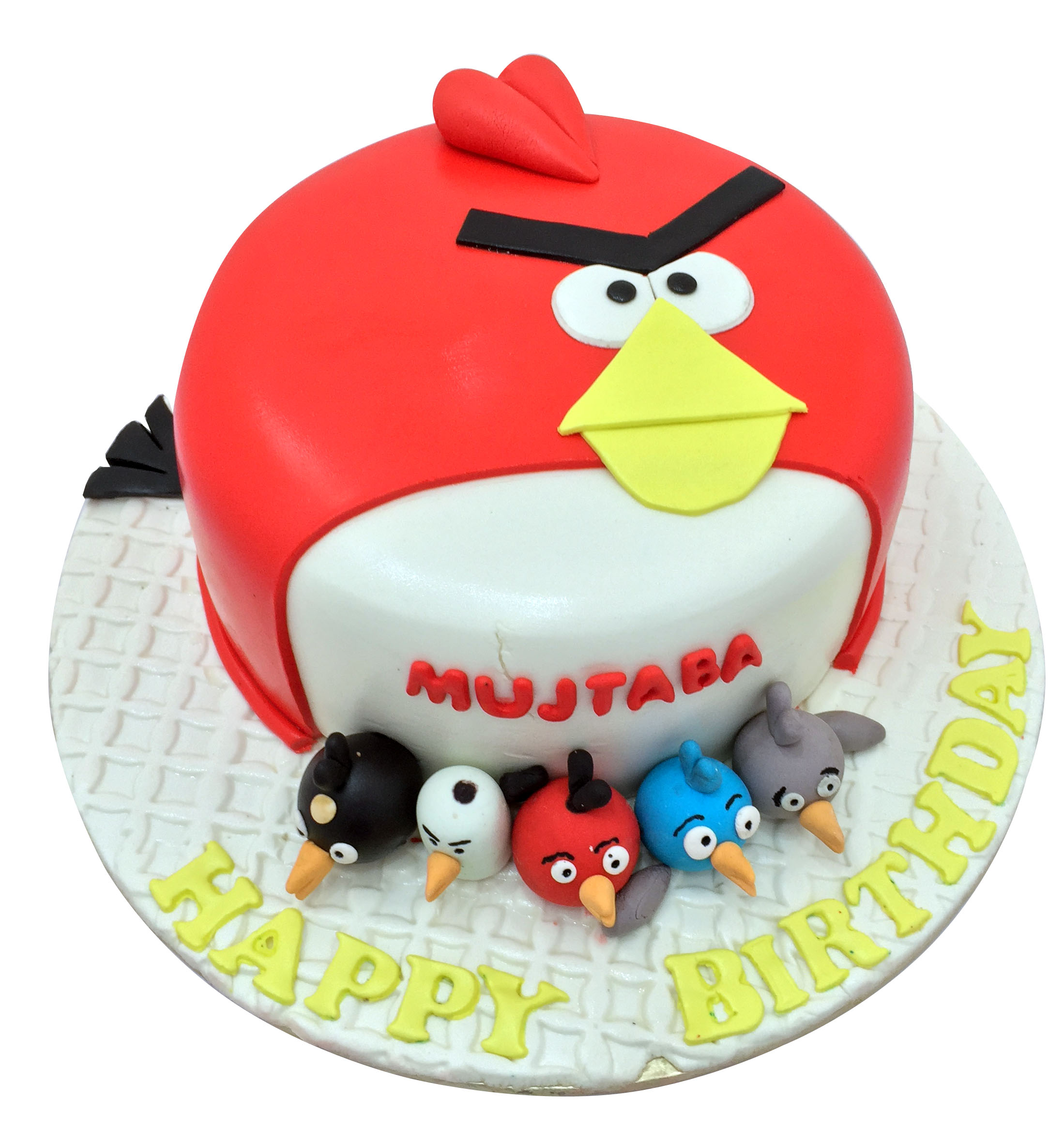 Groovy Angry Bird Birthday Cake Angry Bird Photo Cakes In Lahore Personalised Birthday Cards Cominlily Jamesorg