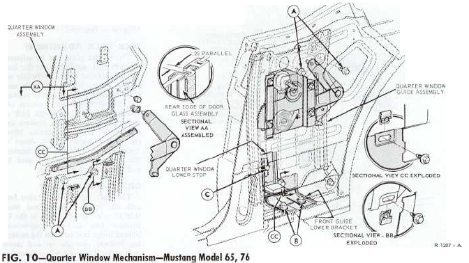 1965 Mustang Quarter Window Diagram, 1965, Free Engine