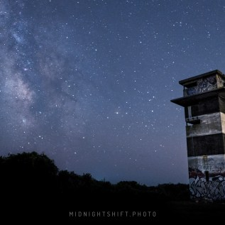 Milkyway Galaxy over Gooseberry Island in Westport, Massachusetts