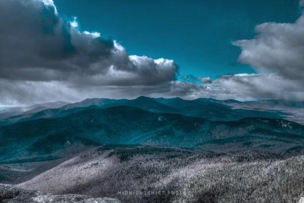 Snow on the summit of Mt Chocorua in New Hampshire