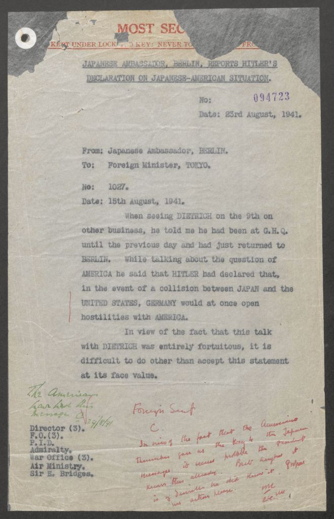 Document Further Validates Horne's Back-Door-To-War Thesis Regarding FDR and Pearl Harbor