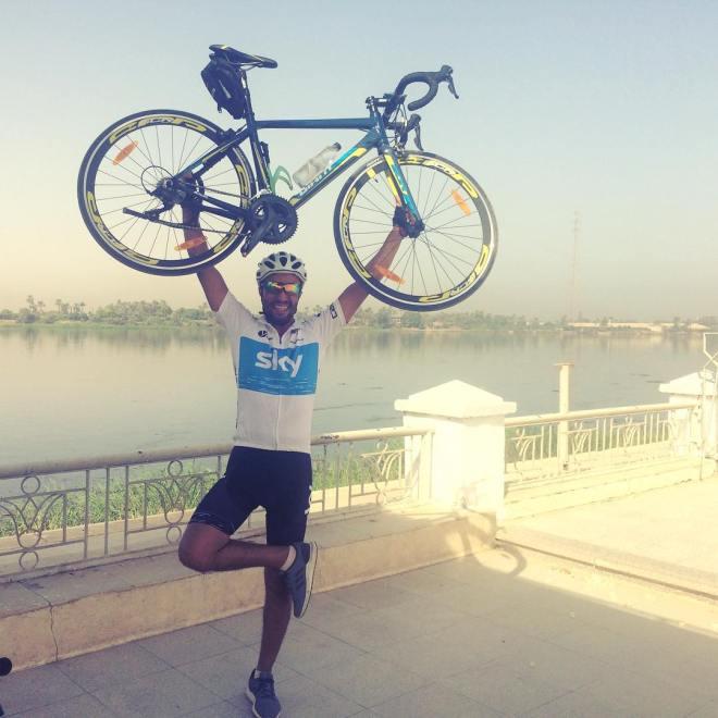 صورة للدراجة الجديدة الأخيرة من أمام كورنيش النيل في قنا