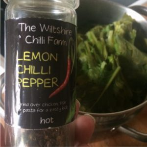 Turnip greens with lemon chilli pepper | midorigreen.co.uk