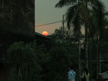 moments before nightfall at UP Diliman
