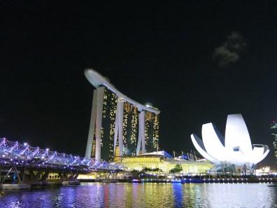 Marina Bay Sands, Helix Bridge and Lotus Museum <3