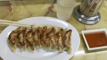 my first meal at Japan-the gyoza that ruined local gyoza for me!