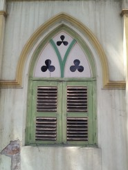 One of the windows of St. Peter's Church in Melaka. St. Peter's church is said to be the oldest Roman Catholic church in Malaysia.