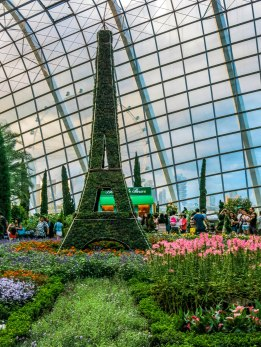 Gardens by the Bay have different exhibits all-year round. The theme when I visited was French.