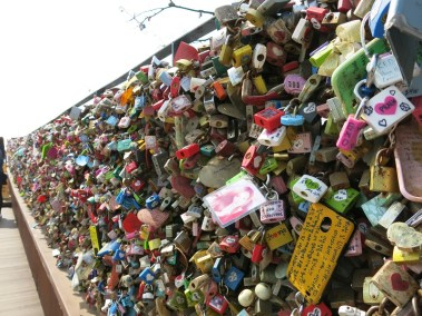 Locks of Love, said to be the most popular attraction in Seoul Tower