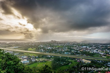 Lignon Hill boasts of a 360-degree view of the city. This is just a nice snapshot of Legazpi City. At the far end is Sleeping Lion, or Kapuntukan Hill.