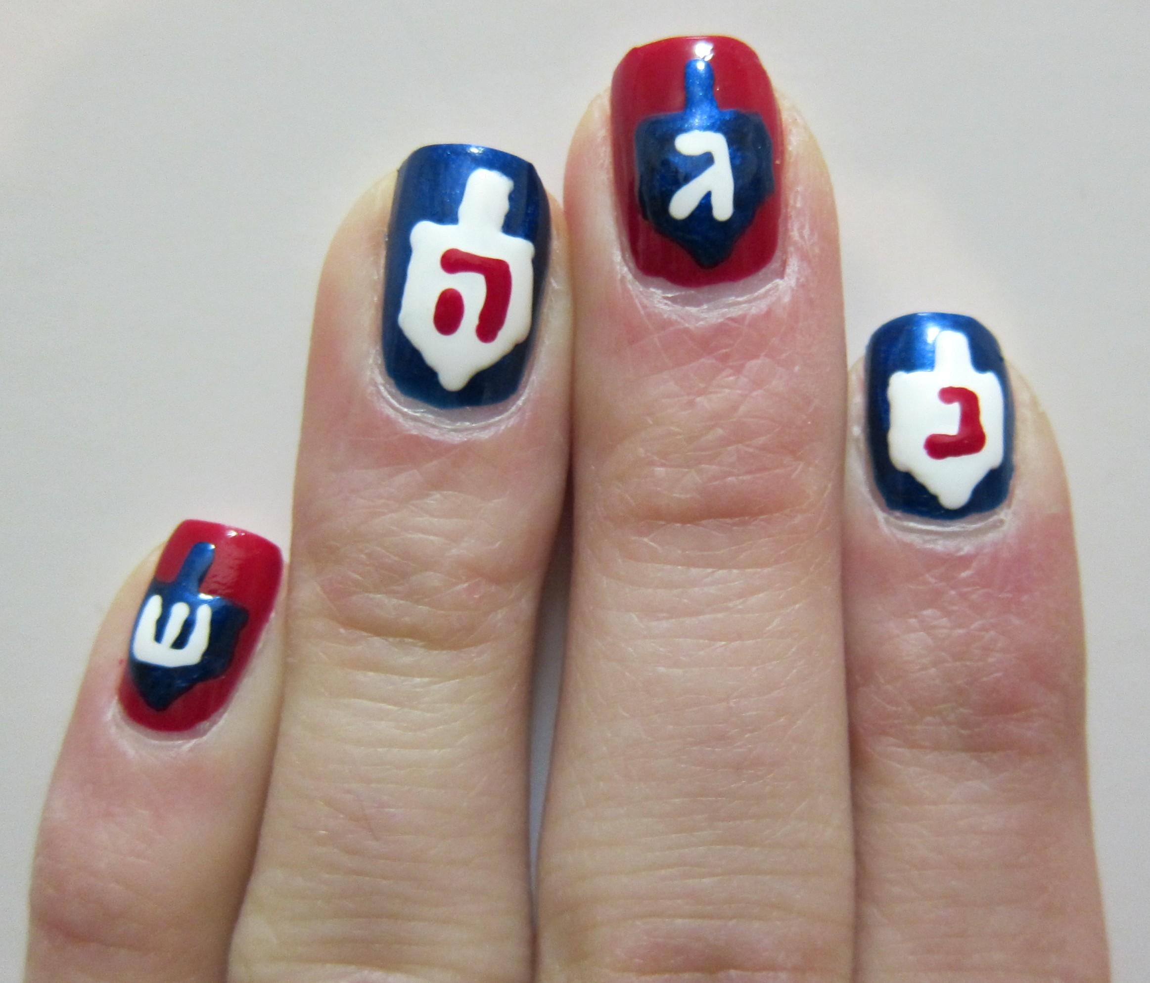 Hanukkah Holiday Nail Art Midrash Manicures