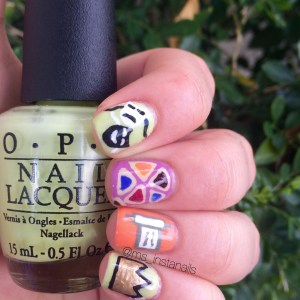 Purim Nail art