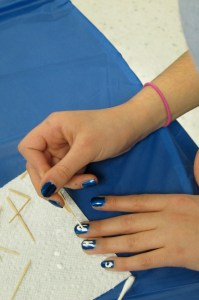 Writing Chanukkah on Nails