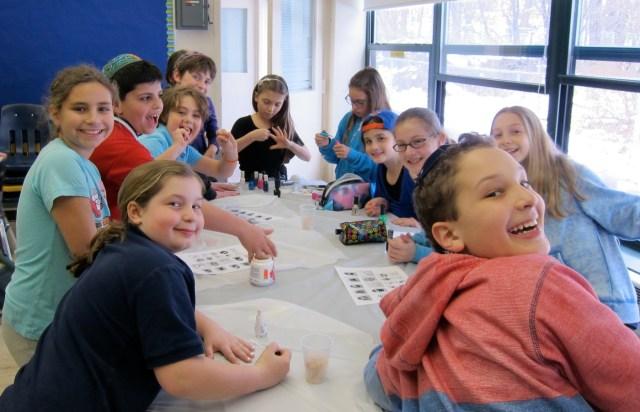 Students Paint Ten Plagues Fingernails