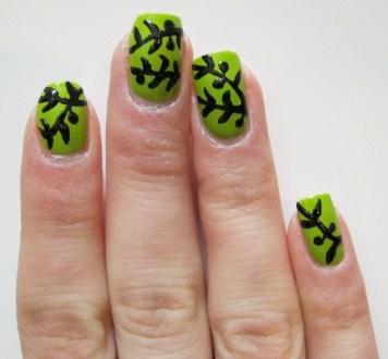 Olive Branch Nail Art Tetzaveh