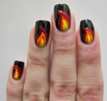 Fire Nail Art