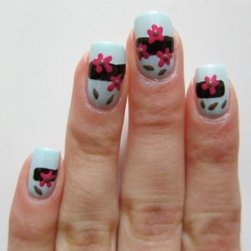 Almond Blossoms Nail Art Korach