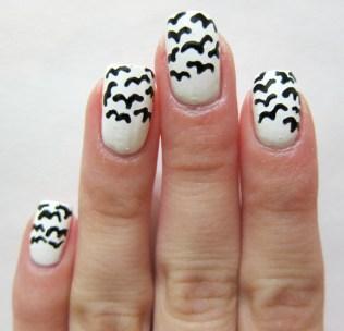 Bird nail art