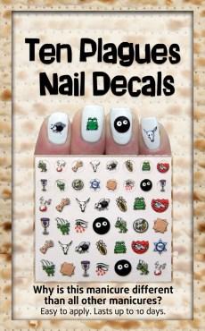 Ten Plagues Nail Decals