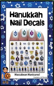 Hanukkah Nail Decals