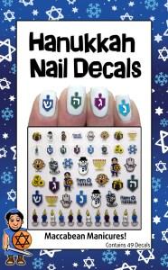 Hanukkah Nail Art 2014