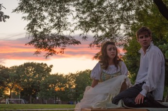 Ashlee Edgemon as Juliet and Brian Scannell as Romeo