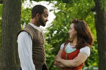 Martel Manning (Benedick) and Ashlee Edgemon (Beatrice) --Photo Credit: Zack Whittingon