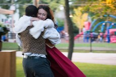 Ashlee Edgmon as Beatrice and Martel Manning as Benedick