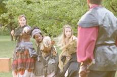 Elise Spoerlein, Stephanie Mattos, and Keyanna Khatiblou as Witches
