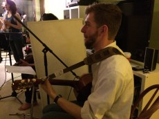 Will Burdin on guitar