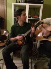 Erick Rivera on mandolin